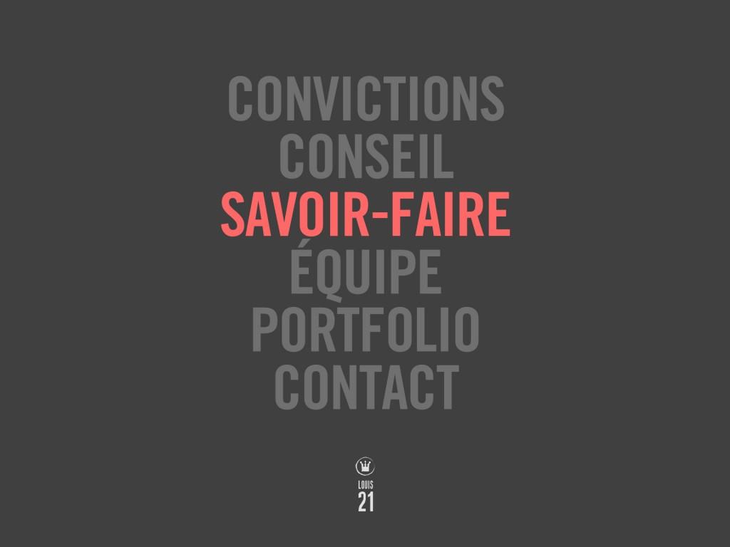 Louis21 - Accueil - Savoir-faire