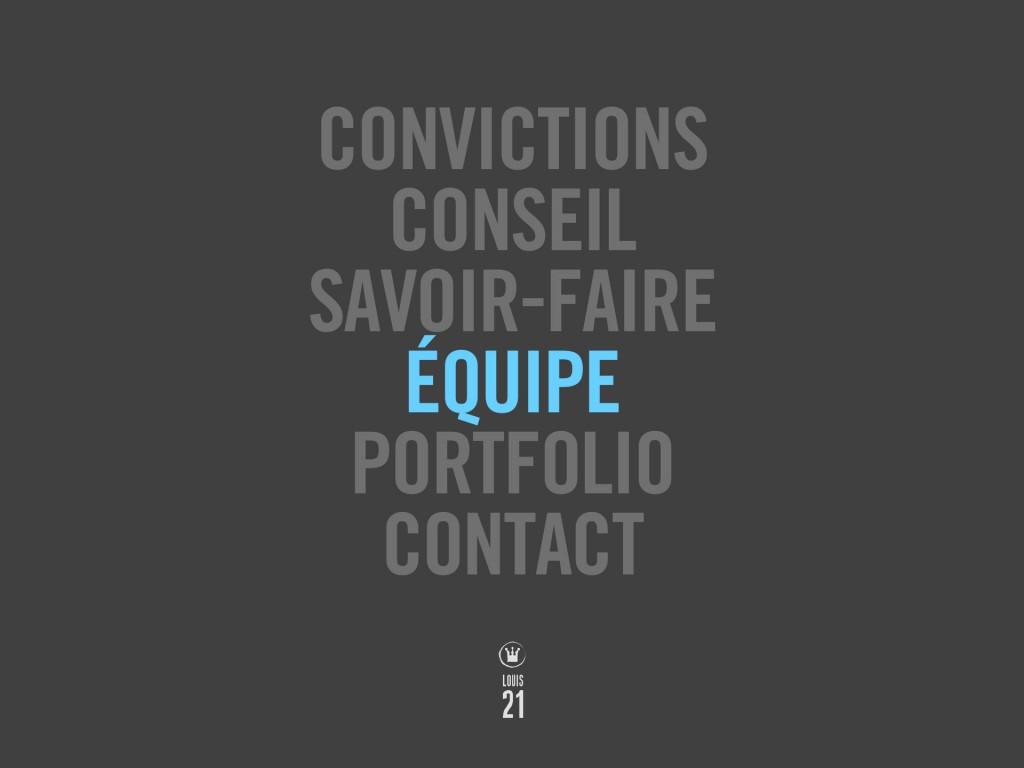 Louis21 - Accueil - Equipe