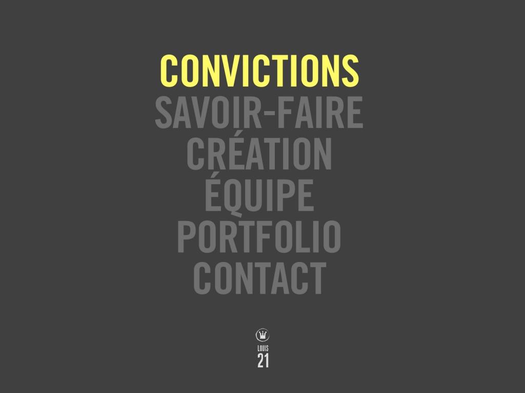 Louis21 - Accueil - Convictions