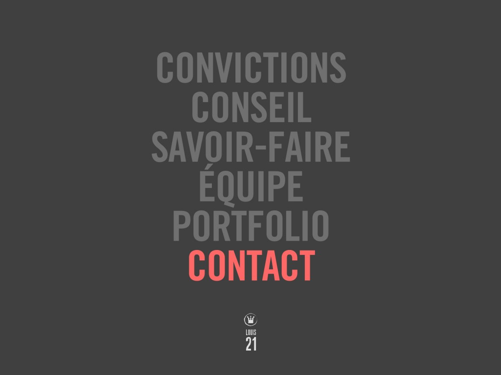 Louis21 - Accueil - Contact