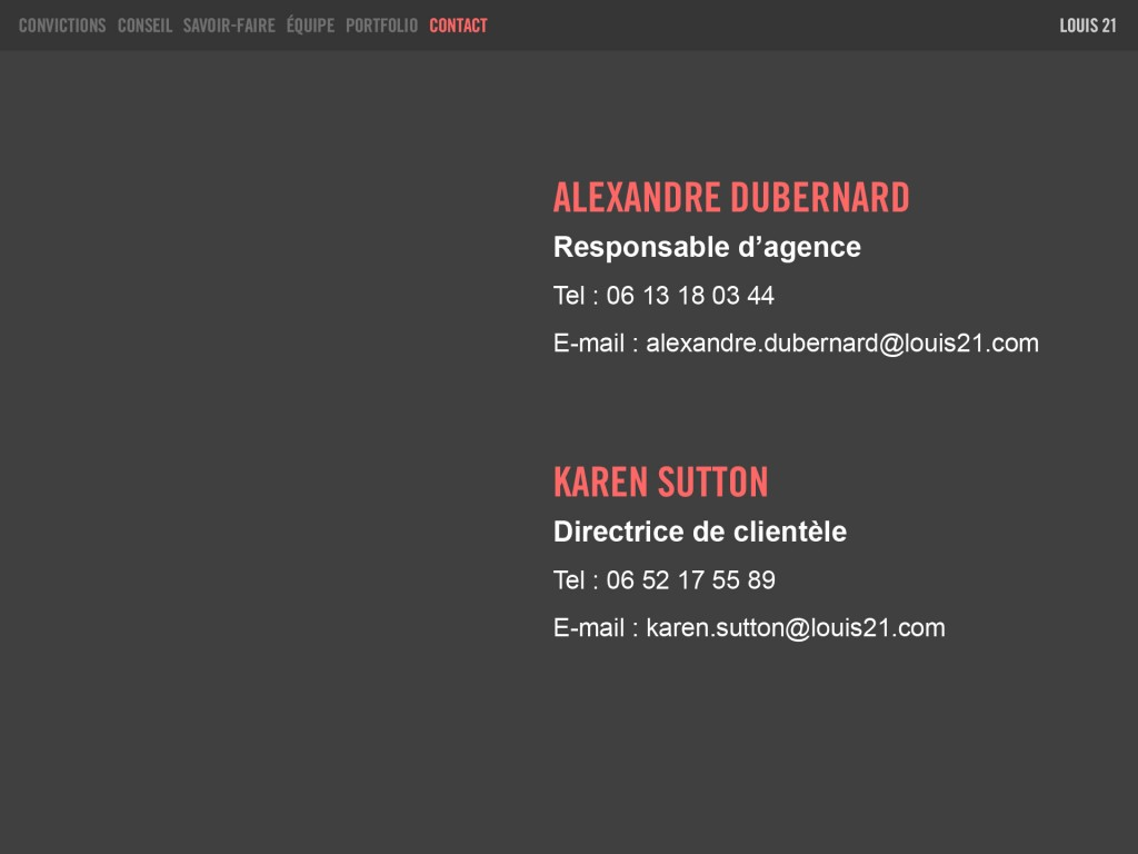 Louis21 - Contact